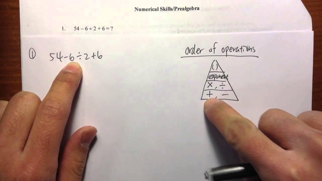 COMPASS] (Q1.) Numerical Skills/Pre-algebra, official practice ...