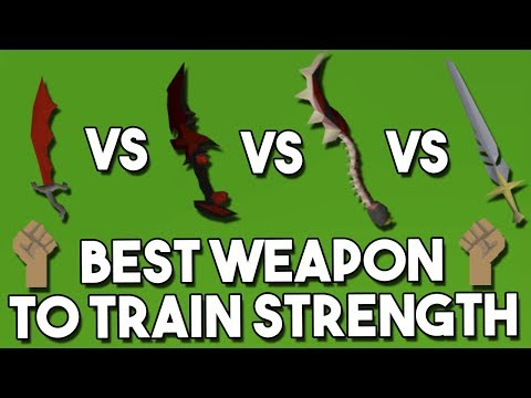 What is the Best Weapon For Training Strength? Strength Weapon Comparison and Analysis!! [OSRS]