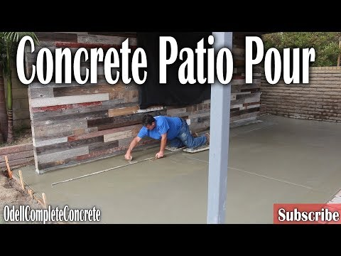 How to Pour a Backyard Concrete Patio DIY