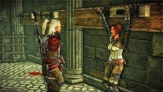 Geralt Saves Triss Merigold from Nilfgaard in Loc Muinne (Witcher 2)
