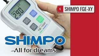 SHIMPO FGE-XY: Digital Force Gauge (product video presentation)