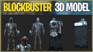 'New' Fortnite: 3D ANIMATION BLOCKBUSTER SKIN AND BACK BLING! (Peau de fuite)