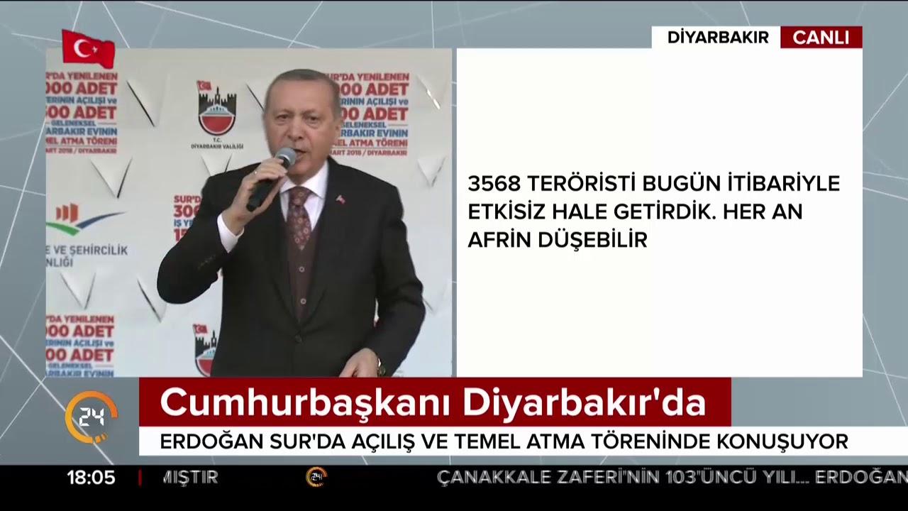 Cumhurbaşkanı Erdoğan Diyarbakır Sur'da 3000 iş yerinin açılışını yaptı