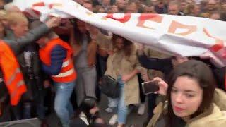 Intentan impedir el avance de Ciudadanos en la manifestación del 8M en Madrid