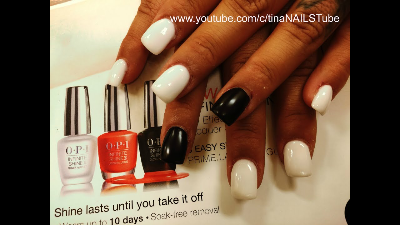 How To Acrylic White Nails Full Set Square Shaped Part 1 You