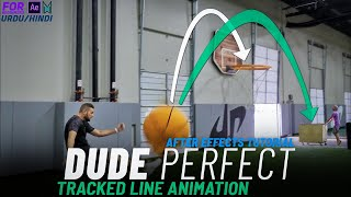 Dude Perfect Tracked Line Animation - After Effects Tutorial - Motion Wala