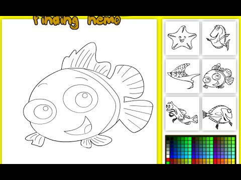 Finding Nemo Coloring Pages - Finding Nemo Colouring Pictures Game ...