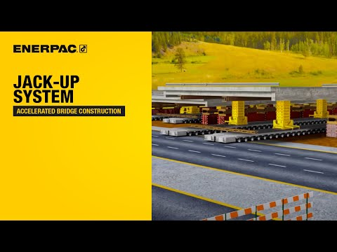 Jack-up System - Accelerated Bridge Construction | Enerpac Heavy Lifting Technology