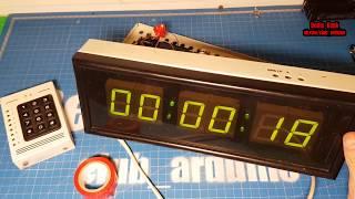 Часы таймер с самыми большими сегментными индикаторами (ретро обзор)