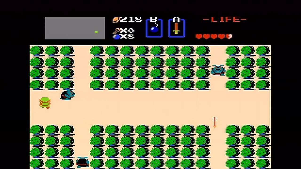 The Legend of Zelda (NES) Walkthrough (Part 1) - Level 1