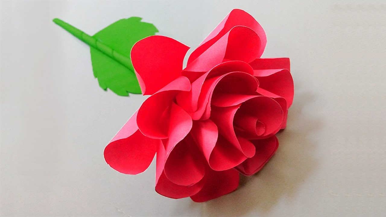 How to make paper flower material for home decor projects