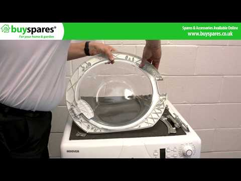 How to replace the door glass on a washing machine