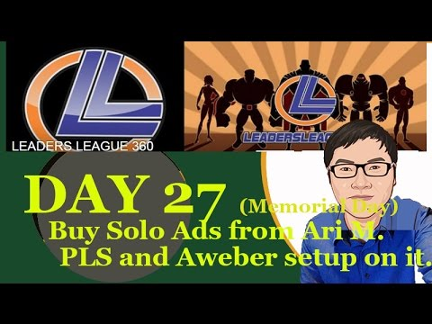 Buy Solo Ads From Ari and setup PLS Aweber