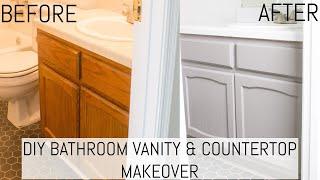 Diy Bathroom Vanity And Countertop, Cost To Paint Bathroom Cabinets