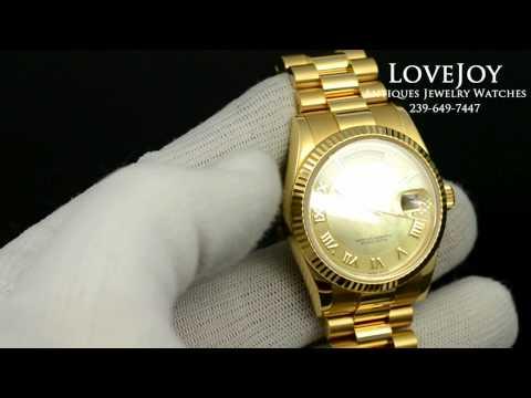 Rolex Rose Gold President For Sale