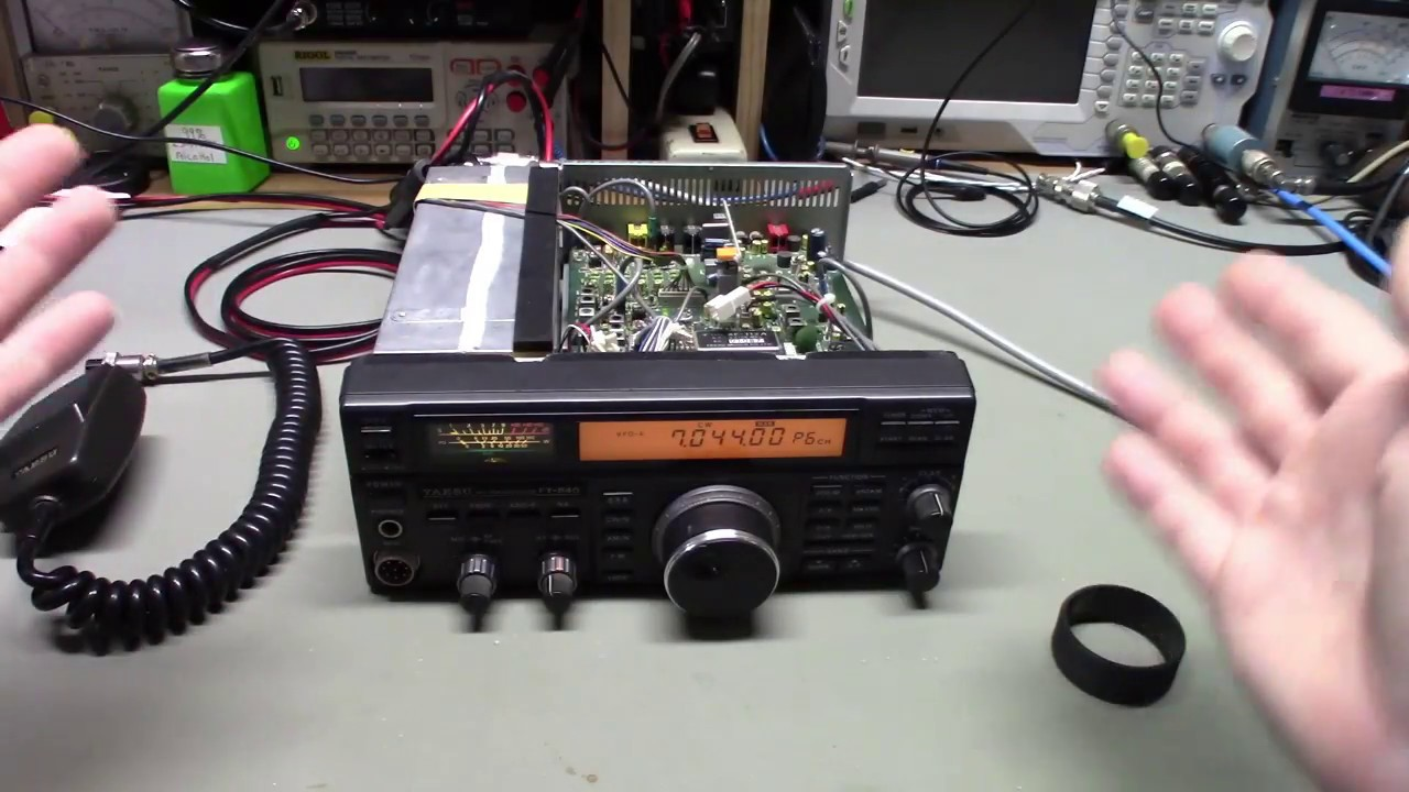 yaesu ft 840 radio in for some minor repairs and alignment  [ 1280 x 720 Pixel ]