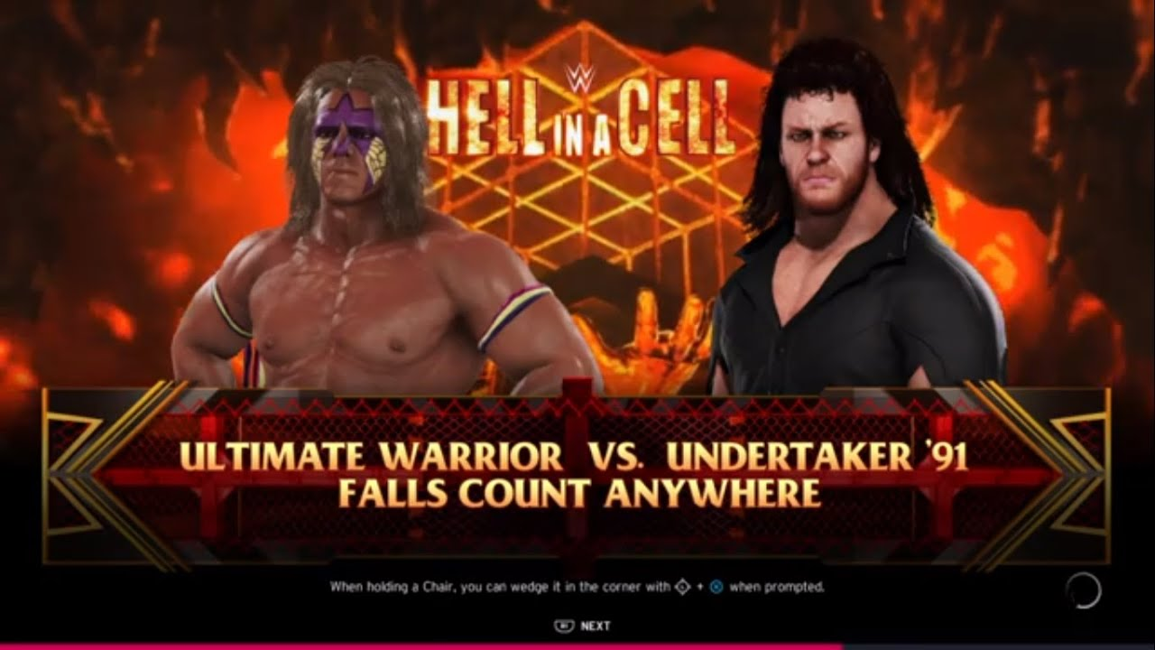 The Ultimate Warrior vs. The Undertaker - Falls Count ...