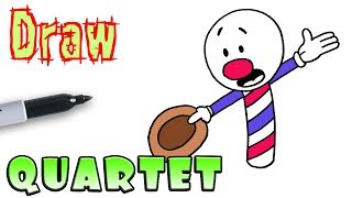 How to Draw the Barbershop Quartet | Cuphead