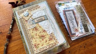 """Lovely"" Junk Journal / Treasure Book - slight travel theme"