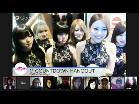140213 M! Countdown BACKSTAGE HANGOUT CAM  - AOA