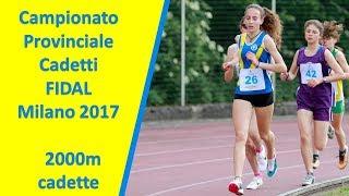 Besana Brianza  2000m cad F Campionati Provinciali Cadetti FIDAL Milano 14 Maggio 2017