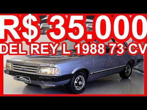 PASTORE R$ 35.000 Ford Del Rey L 1988 Prata MT5 CHT Álcool 73 cv #FORD