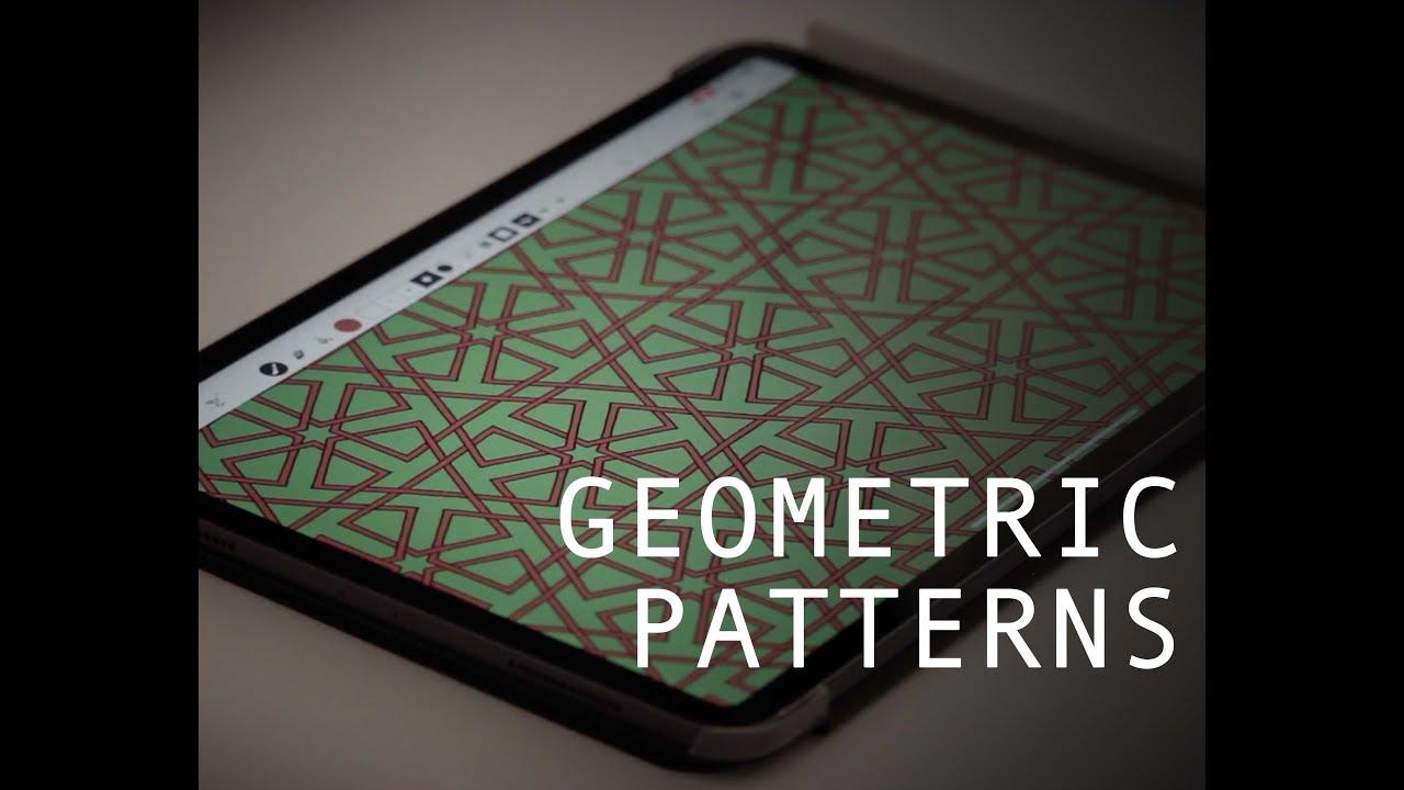Hexagonal Based Islamic Geometric Patterns Using Amaziograph App Ipad Pro