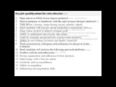 sales-director-job-description