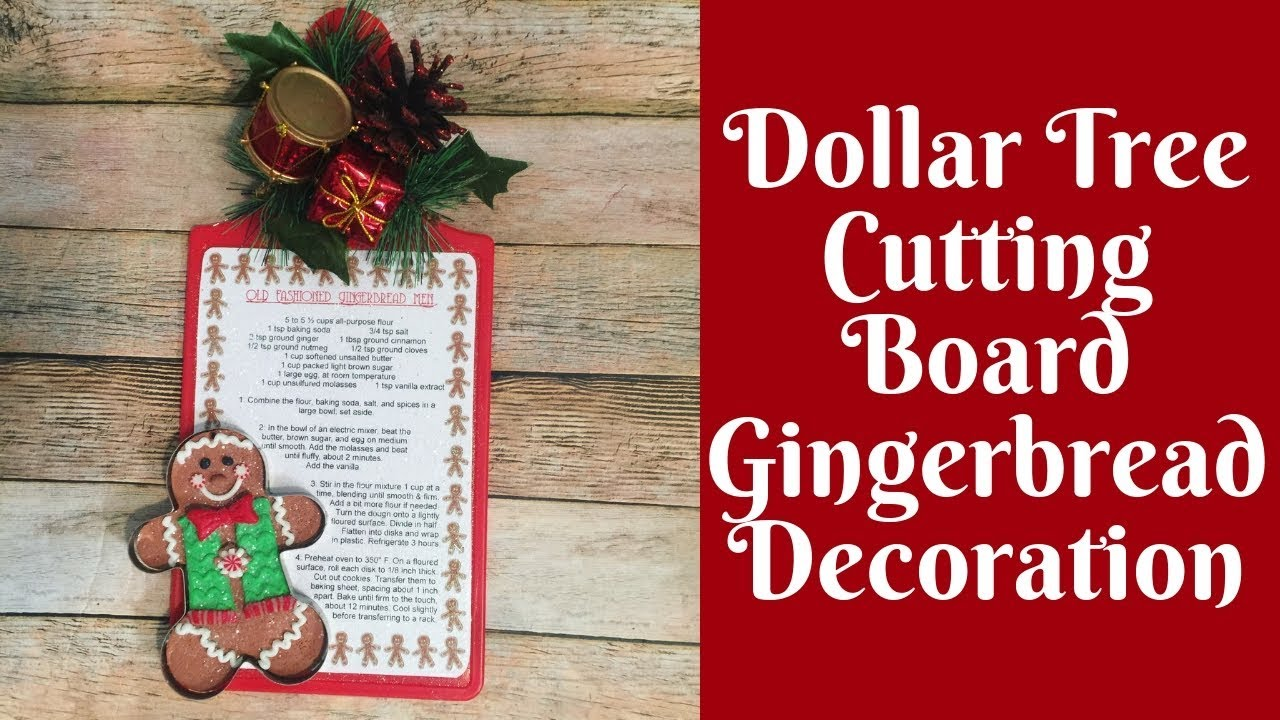 photo regarding Dollar Tree Application Printable called Xmas Crafts: Greenback Tree Chopping Board Gingerbread Decoration With Cost-free Printable