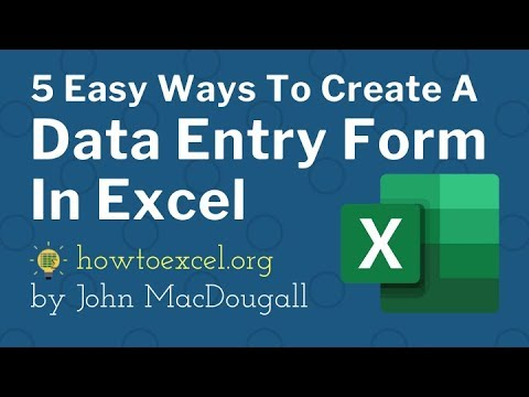 5 Easy Ways to Create a Data Entry Form for Excel
