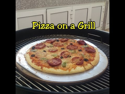 pizza on a grill english version