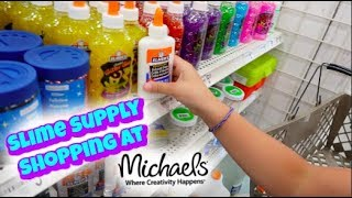 SHOPPING FOR SLIME SUPPLIES AND SO MANY SQUISHIES AT MICHAELS! | VLOG