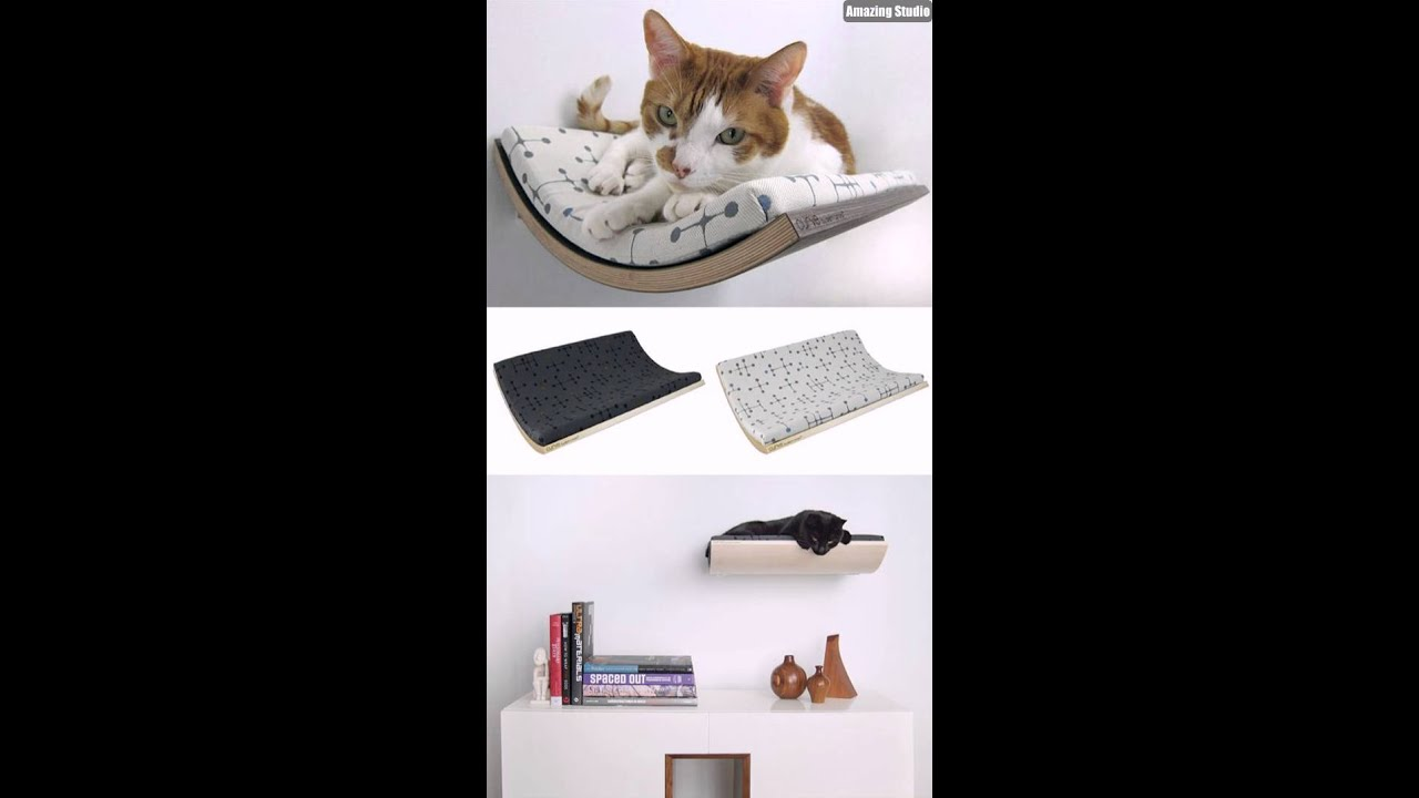 Diy Wall Hanging Cat Bed Designs Youtube