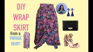 DIY WRAP SKIRT | SEWING PROJECT FOR BEGINNER | EASY WRAP SKIRT WITH RUFFLE