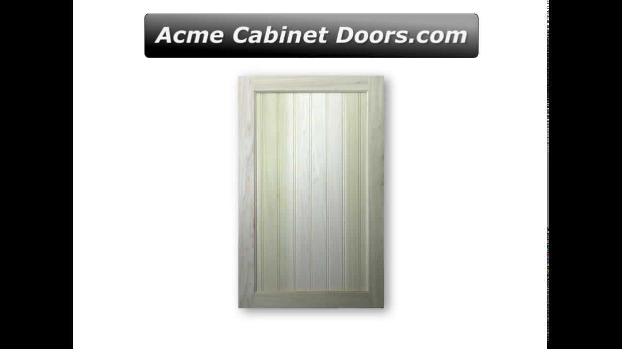 Poplar Frame With Poplar Bead Board Panel Cabinet Door With 2 Bead