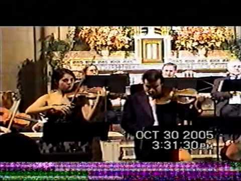 Mozart Sinfonia Concertante K.364,part2 Cecee Pantikian vioin,Horváth Béla viola,