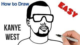 How to Draw Kanye West Portrait Easy