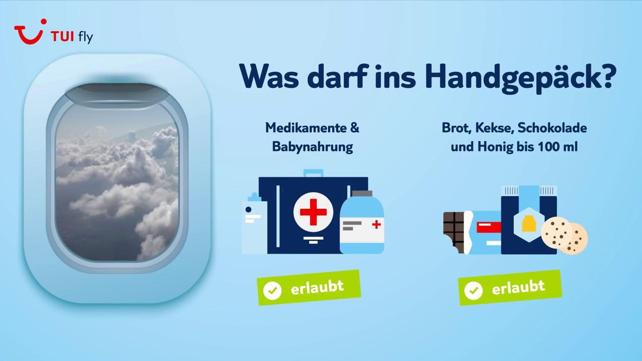 Handgepäck im Flugzeug Freigepäckgrenze | TUI fly
