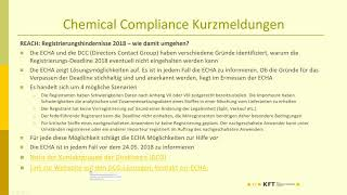 Webinar Chemical Compliance Live vom 9.2.2018