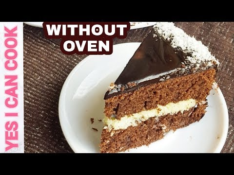 Chocolate Coconut Cake Without Oven By (YES I CAN COOK)