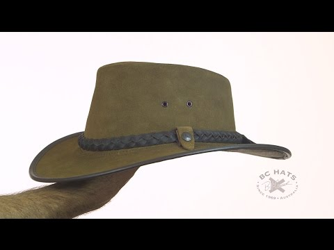 BC Hats Bac Pac Traveller Suede Australian Leather Hat SKU# 6901