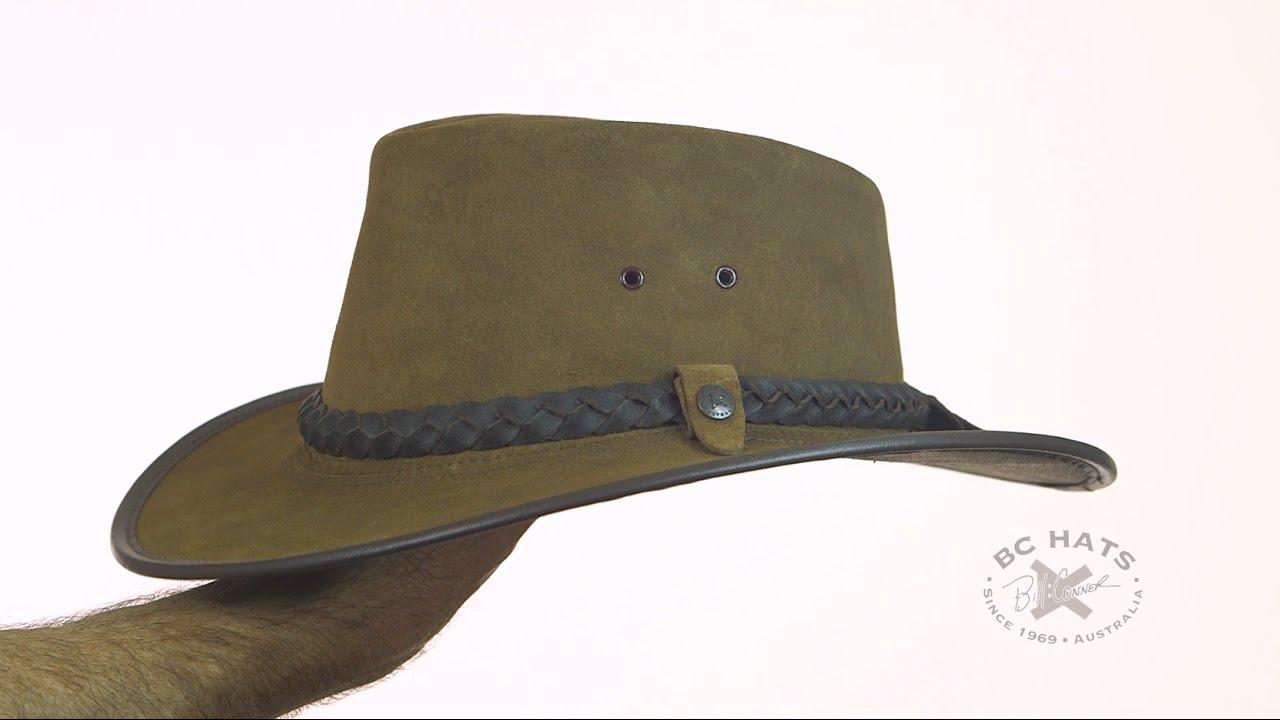 BC Hats Bac Pac Traveller Suede Australian Leather Hat SKU  6901 ... 1d35ed009c0d