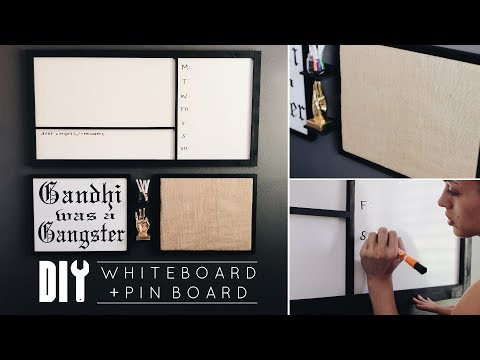 DIY Office Decor | Easy Whiteboard + Pinboard