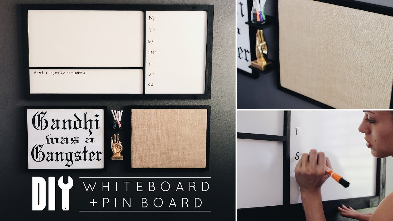 office pinboard. DIY Office Decor | Easy Whiteboard + Pinboard I
