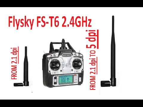 flysky fs t6 transmitter antenna mod increase your range signal strength youtube. Black Bedroom Furniture Sets. Home Design Ideas