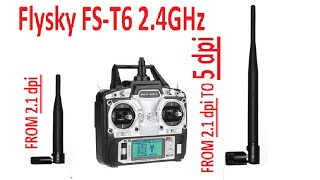 Flysky FS T6 Transmitter - Antenna Mod ( Increase your range & Signal Strength)