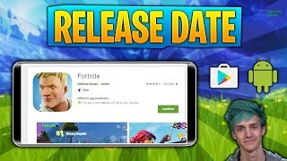 FORTNITE MOBILE ANDROID RELEASE DATE LEAKED!? Ninja Promoting Android?