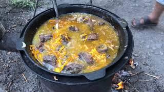 طبخ الرز البخاري بالطرقه القرغيزيه