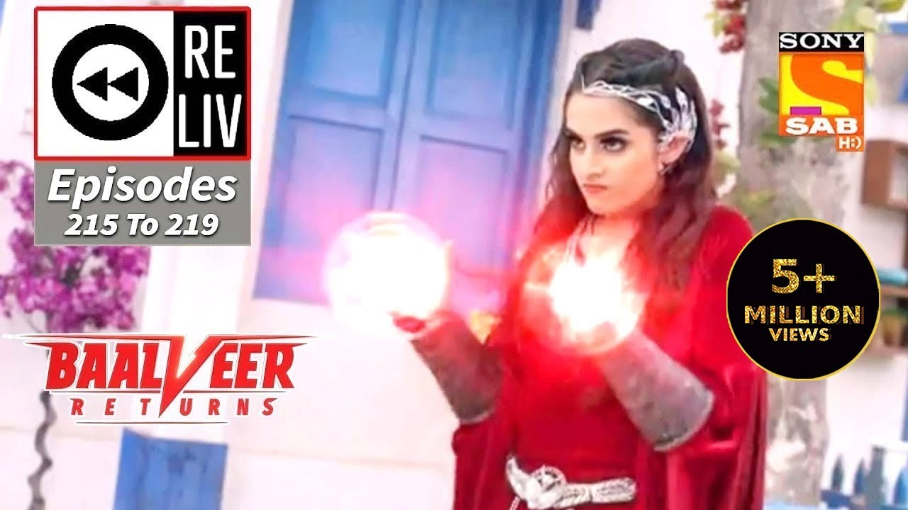 Download Weekly ReLIV - Baalveer Returns - 19th October 2020 To 23rd October 2020 - Episodes 215 To 219