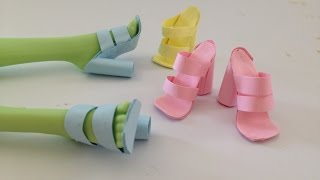 Video How to make Doll Shoes using Paper and Glue stick ALONE download MP3, 3GP, MP4, WEBM, AVI, FLV September 2018
